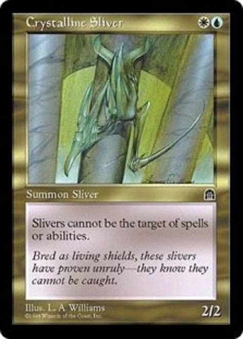 crystalline sliver stronghold singles magic the gathering