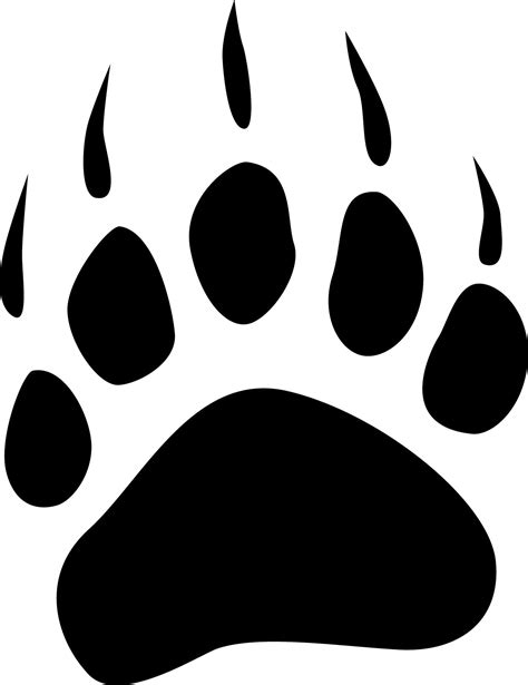 Pencil And In Color Paw Clipart