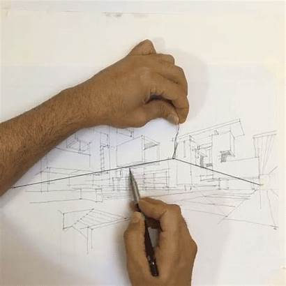 Drawing Vanishing Perspective Simple Architectural Points Sketching