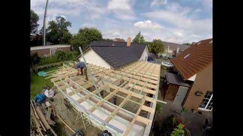 flachdach errichten auf meiner garage zeitraffer youtube