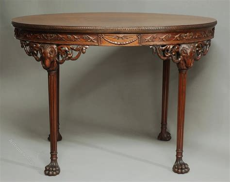 mahogany l tables mahogany centre table in the manner of robert adam 3963