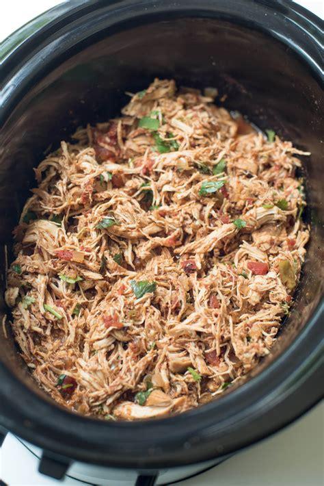 Crockpot Chicken Tacos  Valerie's Kitchen