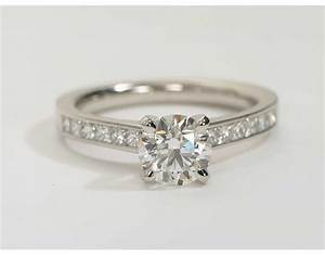 Princess Cut Channel Set Diamond Engagement Ring in ...