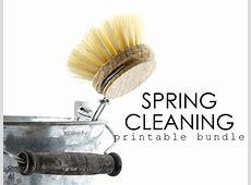 2015 Spring Cleaning Printable Bundle Sale Organizing
