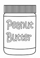 Coloring Peanut Butter Jar Peanuts sketch template