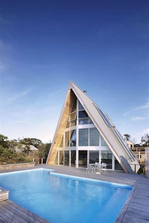 beachfront  frame house  wide open interior modern