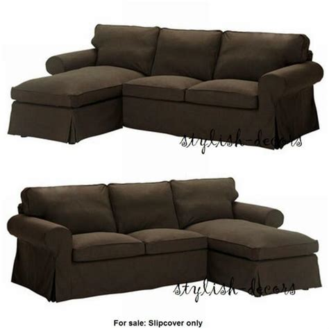 Ikea Loveseat Covers by Ikea Ektorp Svanby Brown Slipcover Cover For Loveseat W