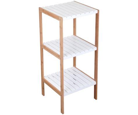 etagere de rangement 3 niveaux bois meuble salle de bain design city console blanche 6431