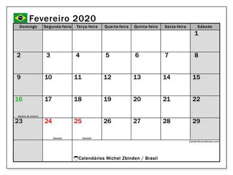 calendario fevereiro brasil michel zbinden pt