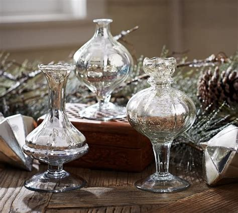 Where Can I Buy Vases by Mercury Glass Bud Vases Set Of 3 Pottery Barn