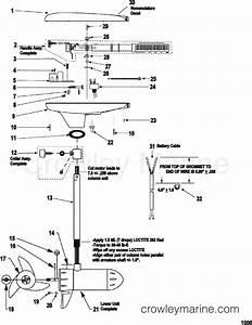 Complete Trolling Motor Model 580v   24 Volt   24v  Motorguide  9567b44v1