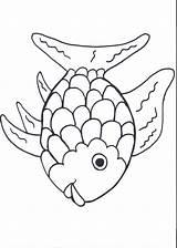 Fish Rainbow Template Coloring Printables Preschool Popular sketch template