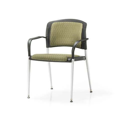 office master sg3b stacking guest chair w arms cushion