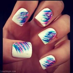 Creative nail style girly cute nails girl nail polish nail ...