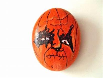 Painted Rock Pumpkins Picclickimg Pumpkin Halloween Face