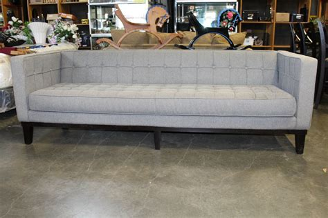 5 Foot Loveseat by Modern Club Style Grey Fabric 7 5 Foot Sofa Big