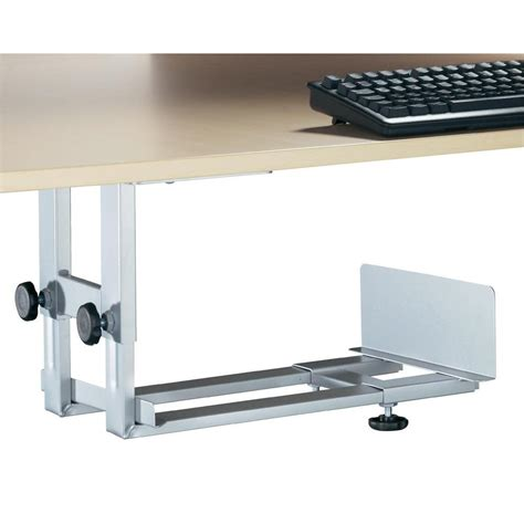 under desk computer tower holder black from conrad