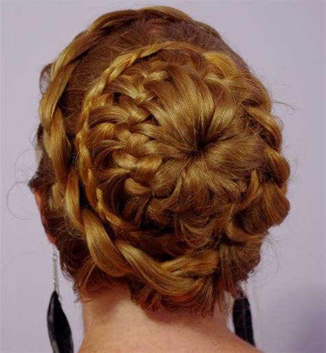 braids hairstyles for super long hair fancy braided bun