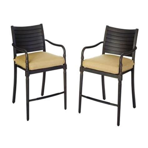hton bay patio high dining chairs with textured
