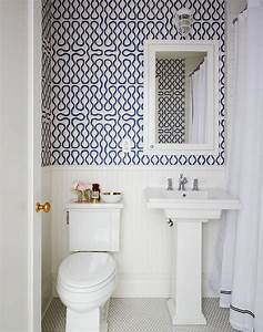 Papier Peint Pour Salle De Bain : des id es de papier peint pour la salle de bain bricobistro ~ Dailycaller-alerts.com Idées de Décoration