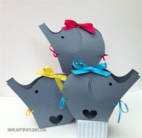 Custom gift boxes she will love. Gray Elephant Baby Shower gift boxes. Baby shower gifts