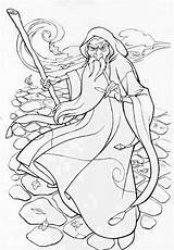 Wizard Merlin Coloring Pages Wicked Colouring Adults Mickey Mouse Oz Getcolorings Printable Head Sketch Colori Template sketch template