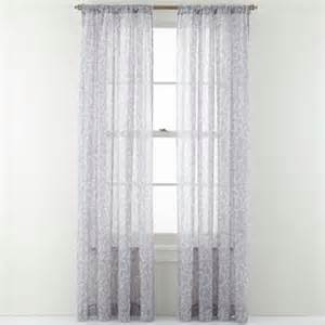 royal velvet balmoral rod pocket sheer curtain panel oatmeal
