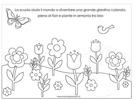 immagini di da stare e colorare disegno giardino con fiori da colorare mamma e bambini con