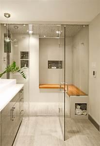 Bagno con pavimenti e rivestimenti in mosaico • 100 idee bagni moderni, contemporanei, classici