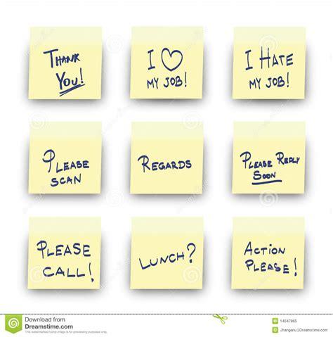 bureau post it post it office messages stock vector illustration of