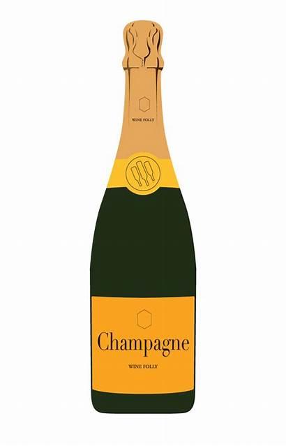 Champagne Bottle Prosecco Wine Clipart Label Transparent