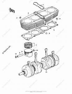 Kawasaki Motorcycle 1979 Oem Parts Diagram For Cylinder