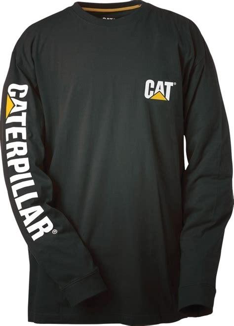 caterpillar trademark banner long sleeved  shirt