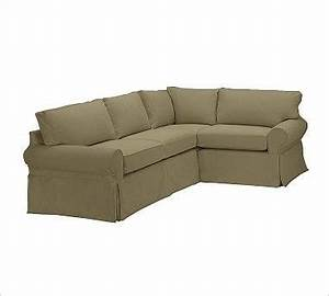 pb basic left 3 piece small sectional slipcover With small slipcovered sectional sofa