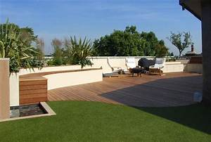 White rendered curved retaining walldecking landscape for White garden walls