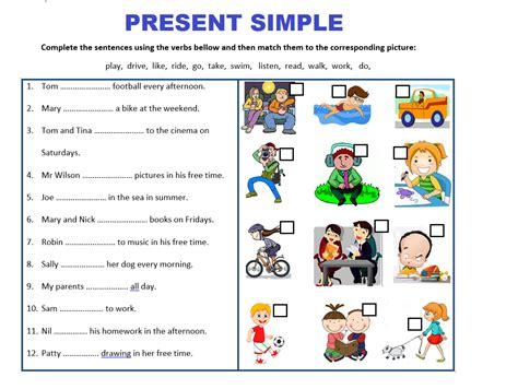 Present Simple Tense Worksheets Bundle