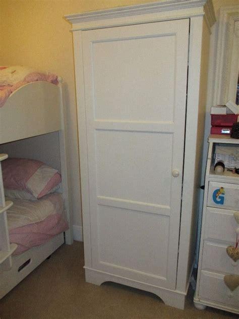 Small Width Wardrobes by Aspace White Single Wardrobe 47 Cm Depth 73 Cm Width 178