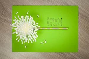 Geburtstagskarte Basteln Einfach : geburtstagskarte selber machen selber basteln diy pusteblume kreative karten ~ Orissabook.com Haus und Dekorationen