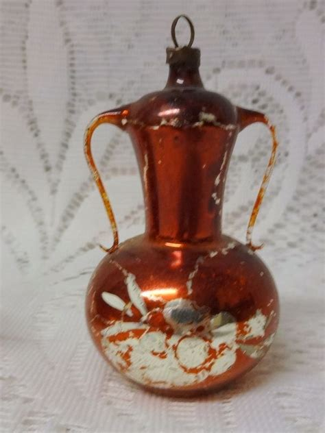 Vintage Old Germany Glass Christmas Tree Ornament Teapot