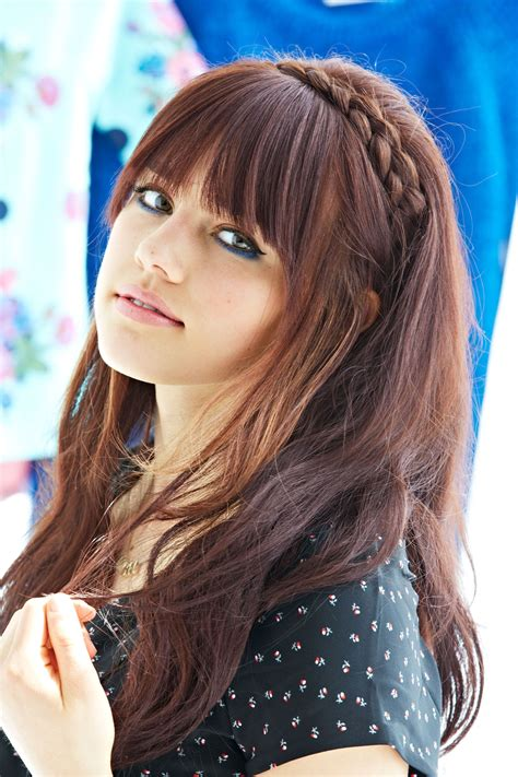 cute af hairstyles  girl  bangs    hair makeup clothes