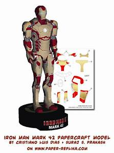 Ninjatoes' papercraft weblog: Papercraft Iron Man Mark 42!