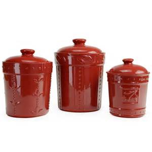 kitchen canisters and jars signature housewares 3 sorrento ruby ceramic canister set ebay