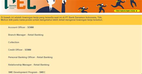 lowongan kerja bank danamon terbaru mulai bulan