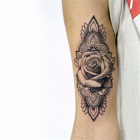 mandala  rose tattoo  sameoldkid  deviantart
