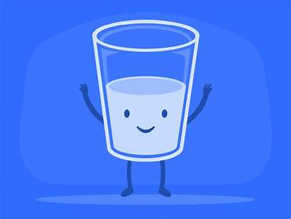 Glass Half Optimism Gifs Dribbble Friday Smart