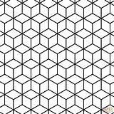 Coloring Geometric Tessellation Pattern Rhombus Printable Drawing Paper Dot sketch template