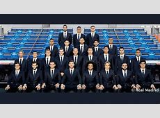 Real Madrid squad pose in the new official team suit AScom