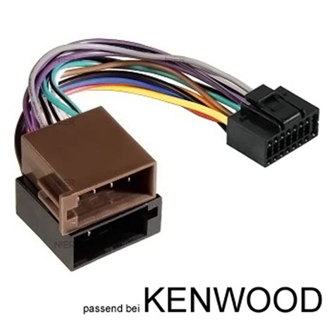 car radio adapter cable  kenwood plug din iso  pin