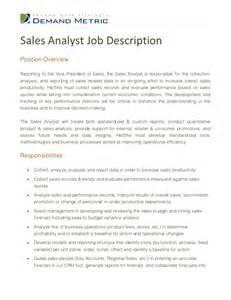 resume objective for sales analyst position sales analyst description