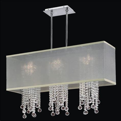 rectangular shade chandelier chandelier